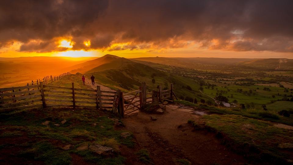 Mam Tor, Famous Gate, Peak District, Derbyshire