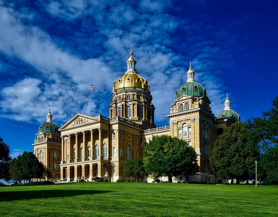Des Moines, Iowa, State Capitol, Building, Structure
