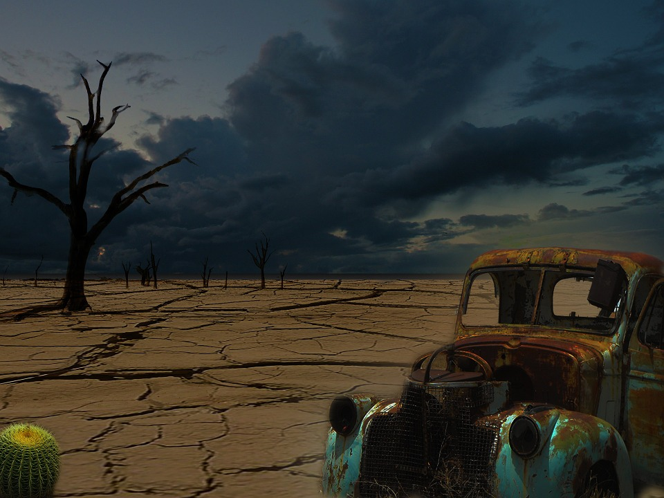 Desert, Clouds, Mood, End Time, Disaster, Apocalypse
