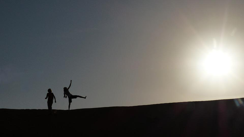 Sun, Desert, Oman, Dune