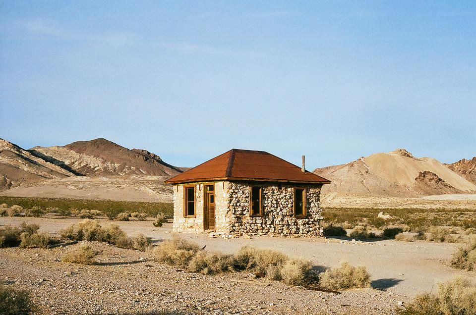 House, Vacant, Desert, Film, Home