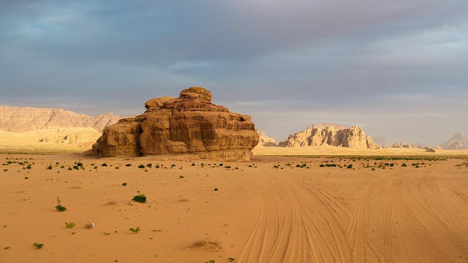 Desert, Wadi Rum, Jordan, Sand, Sand Stone