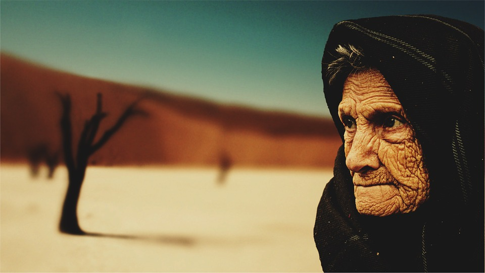 Old Woman, Desert, Old Age, Bedouin, Dry, Old, People