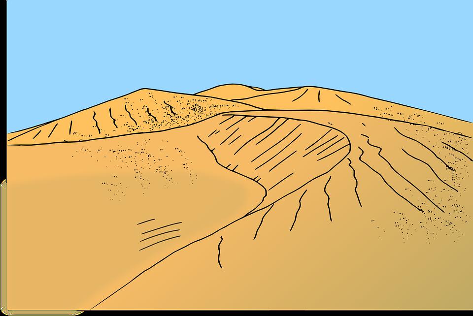 Beach, Desert, Dune, Sand, Orange Beach, Orange Desert