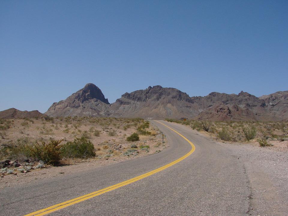 Street, Mountains, Desert, Route 66, Route, 66