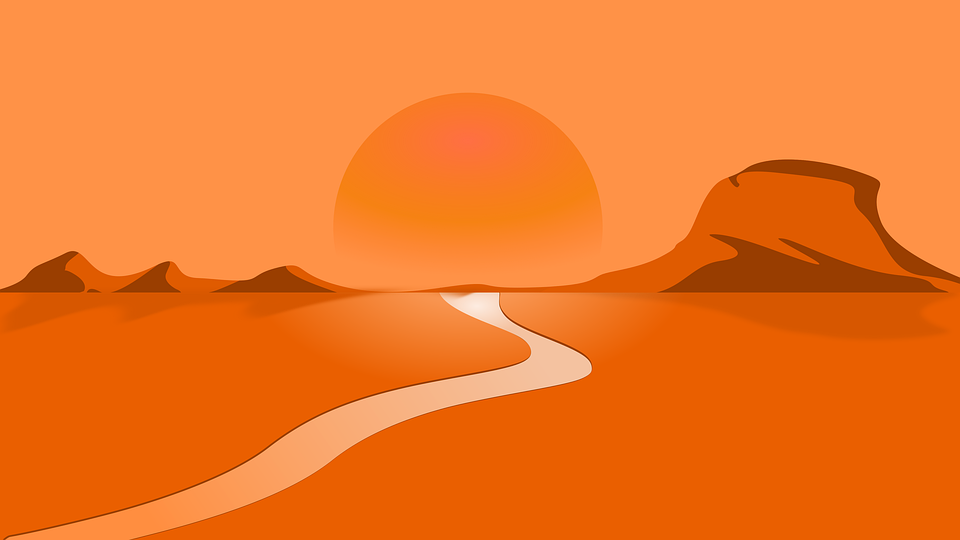 Desert, Orange, Nature, Sand, Hot, Sandstone, Rock