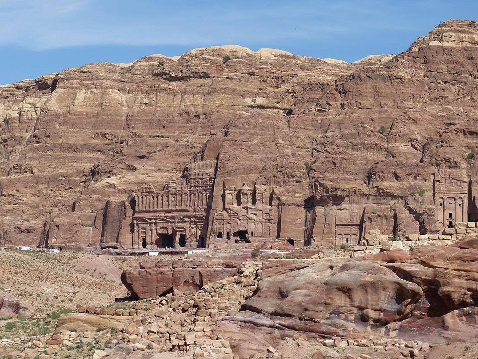 Jordan, Petra, Desert, Sand Stone, Canyon, Siq, Gorge