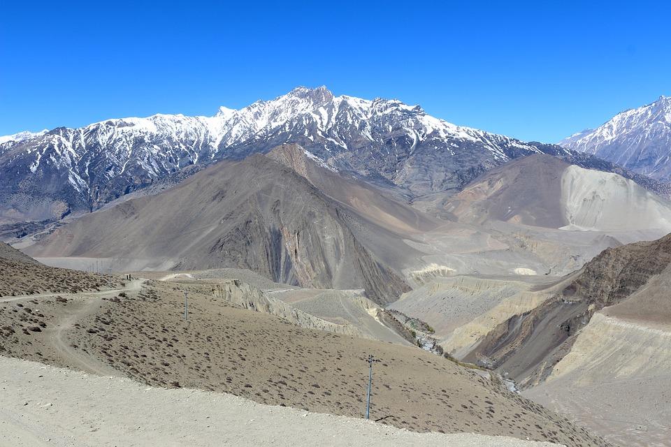 Landscape, Blue, Sky, Blue Sky, Mountains, Desert