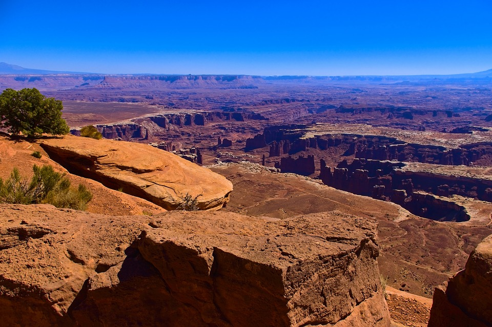 On The Grand View Edge, Desert, Rock, Stairs