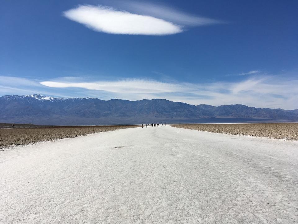 Sunrise, Desert, Death Valley, Salt