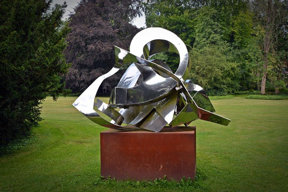 Sculpture, Modern, Metal, Art, Artwork, Design