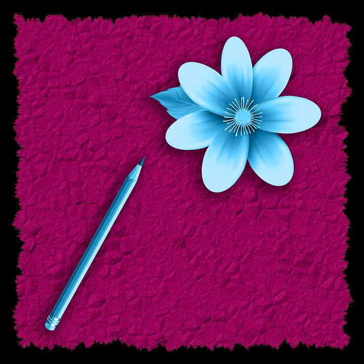 Png Image, Card, Design, Romantic, Flower, Pencil
