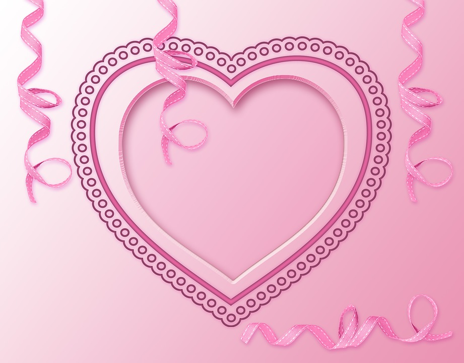 Design, Heart, Pink, Background, Card, Romantico, Love