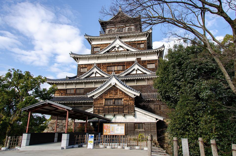 Hiroshima, Castle, Tower, Japan, Design, Wood
