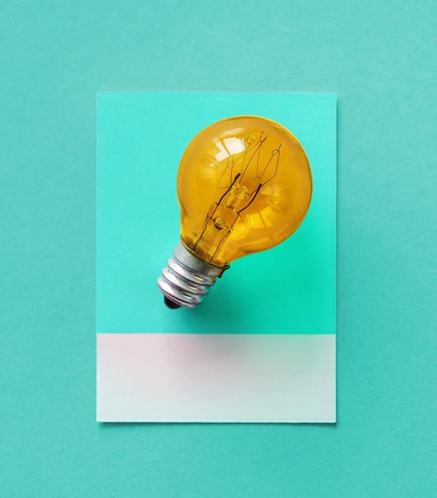 Bulb, Card, Colorful, Creative, Creativity, Design