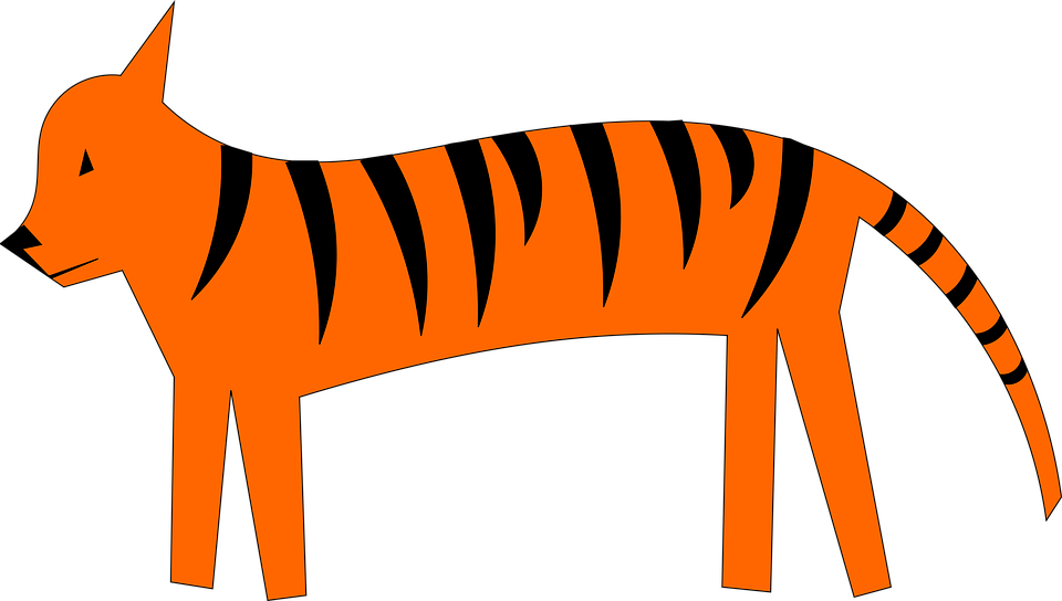 Tiger, Cartoon, Cute, Animal, Zoo, Funny, Design
