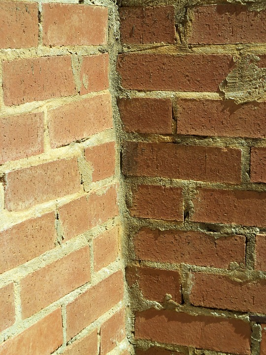 Bricks, Corner, Design, Wall, Exterior, Surface