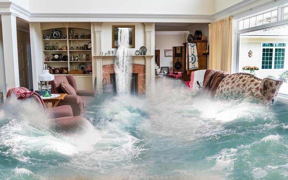 Flooding, Surreal, Living Room, Design, Fantasy