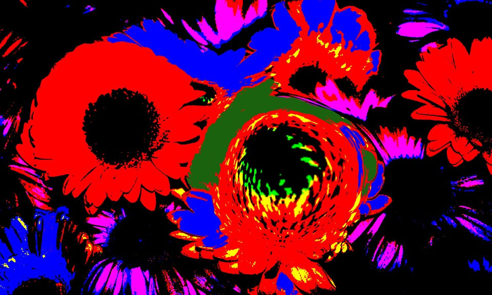 Flowers, Graphically, Fractals, Design, Pattern