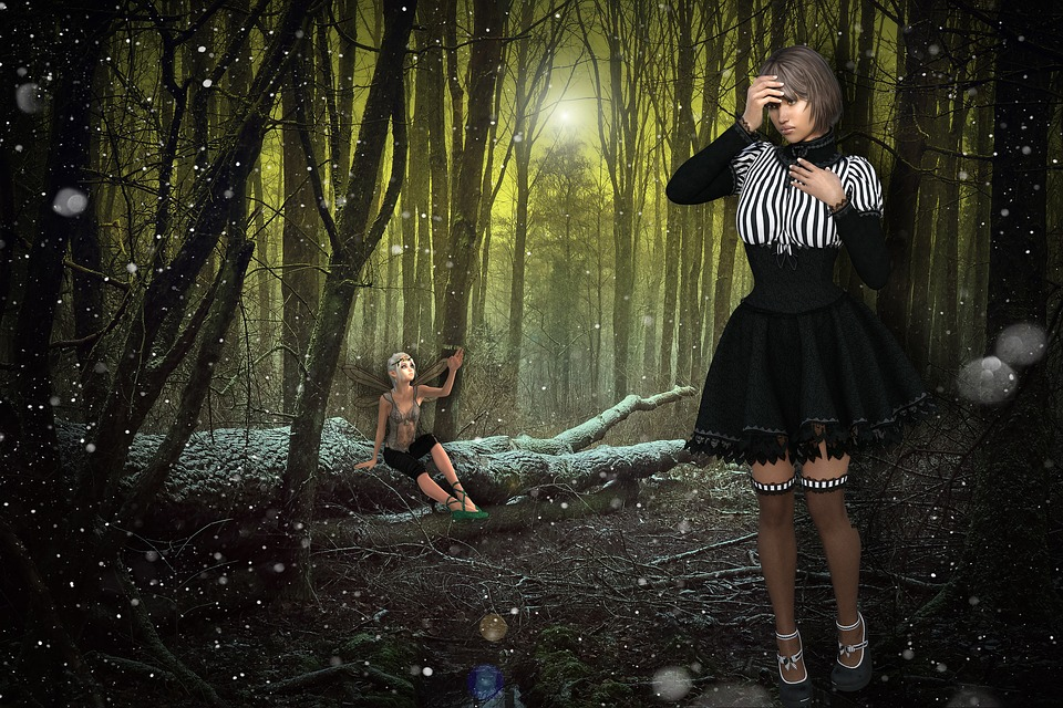 Gothic, Girl, Chica Gotica, Sad Girl, Design, Forest
