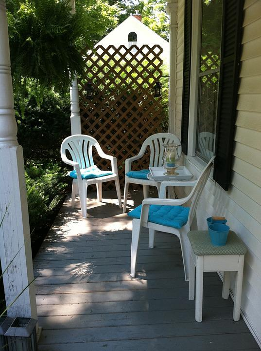 Porch, Summer, Design, Home