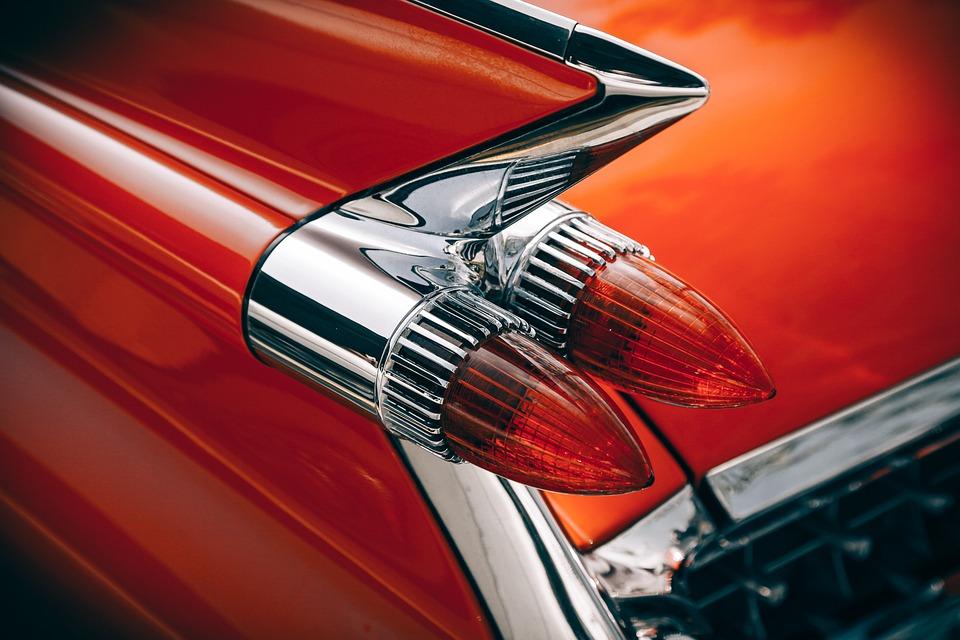 Car, Classic, Close-up, Design, Lights, Chrome
