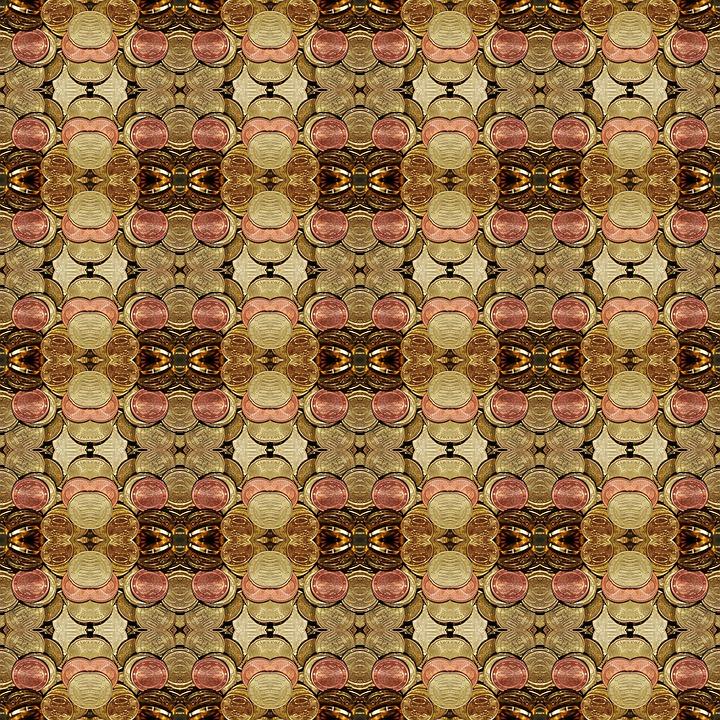 Design, Pattern, Background, Symmetry, Coins, Money