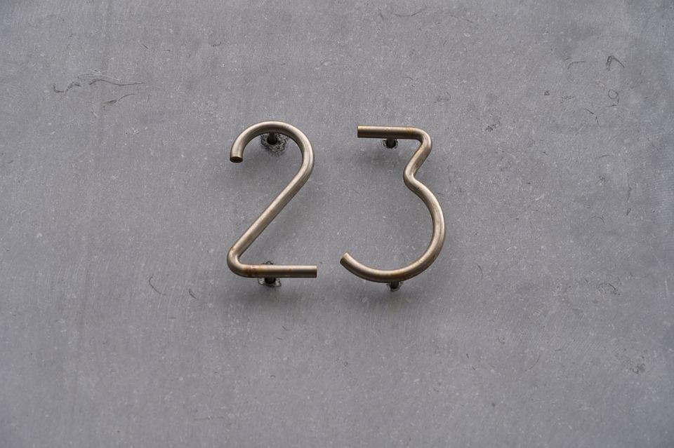 House Number, Number, Wall, Metal, Design, Grey