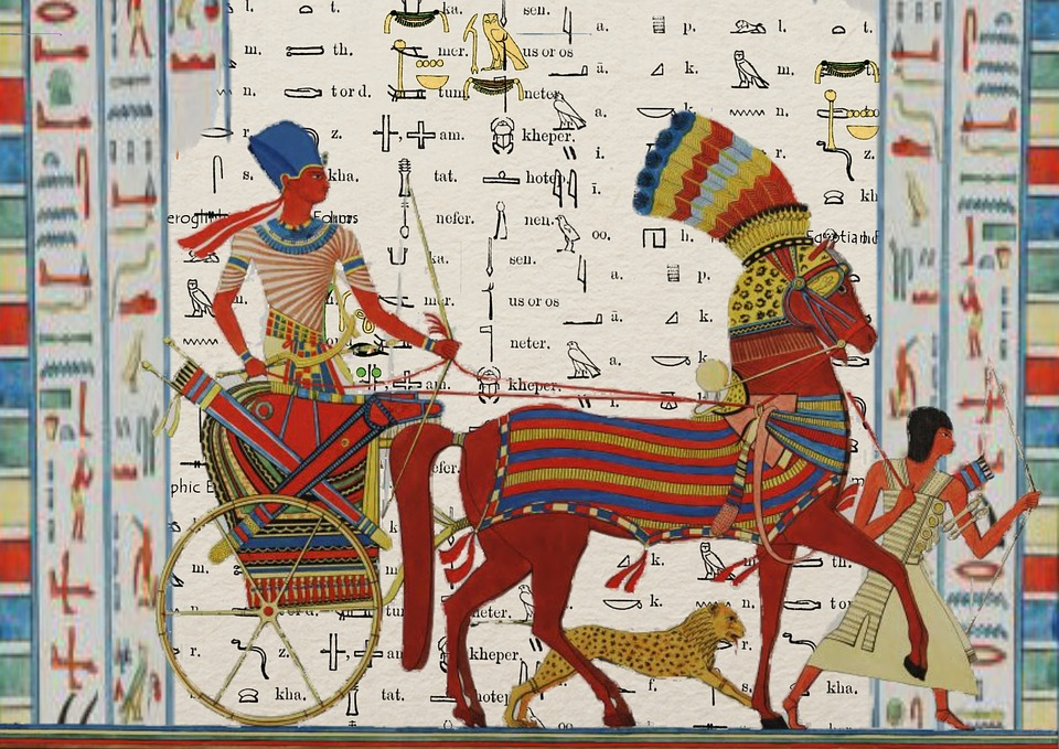 Egyptian, Tutunkhamun, Pharaoh, Design, Man, Chariot