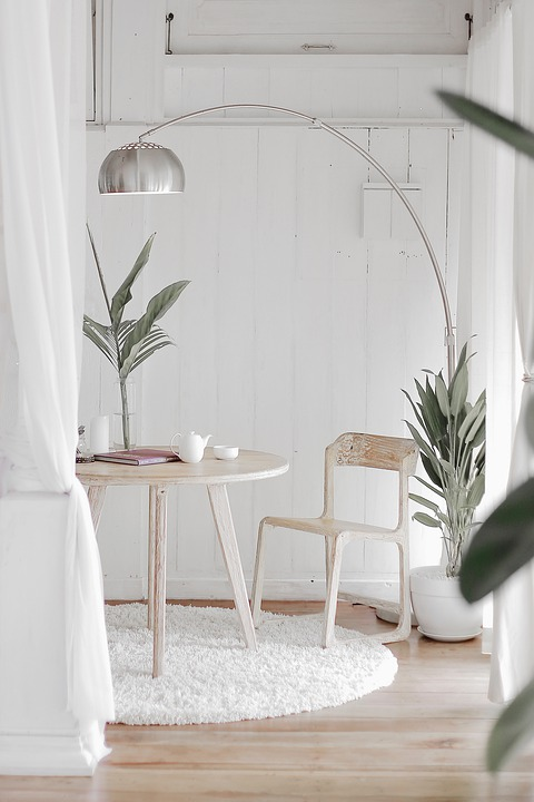 Plant, Design, Home, House, Lamp, White, Wood, Green
