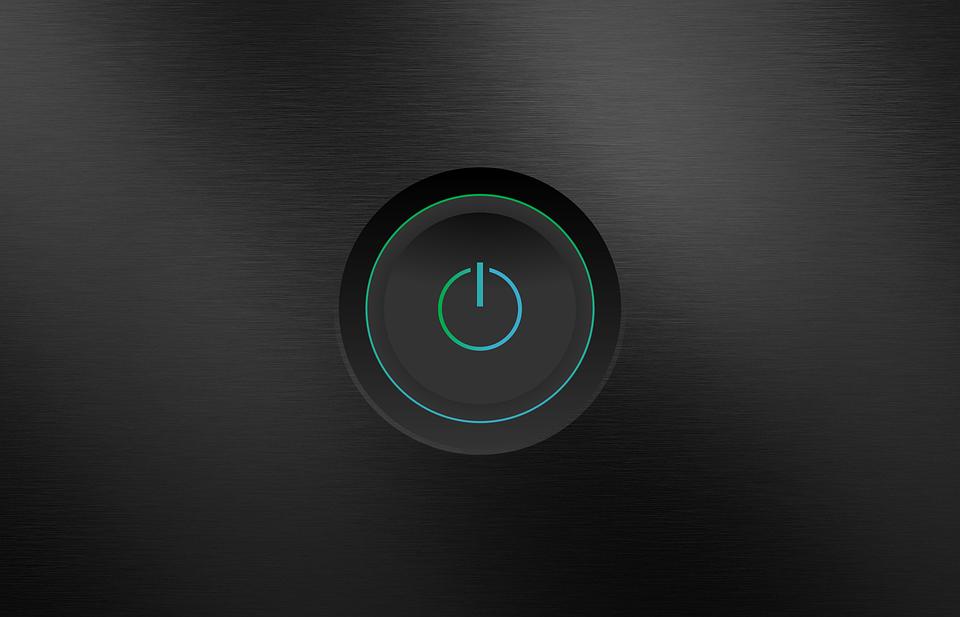 Power Button, On, Off, Design, Vector Power Button
