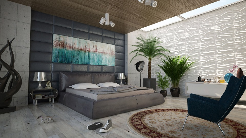 Bedroom, Bed, Wall, Decoration, Design, Room
