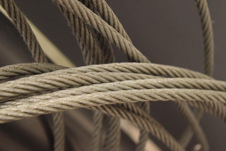 Rope, Metal, Steel, Iron, Design, Construction, Cable