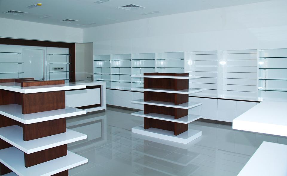 Pharmacy, Shelving, Design