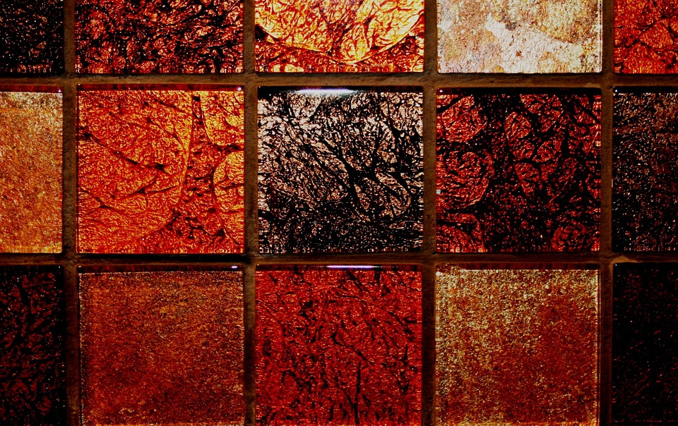 Tiles, Small, Autumn Colors, Rich, Shiny, Design