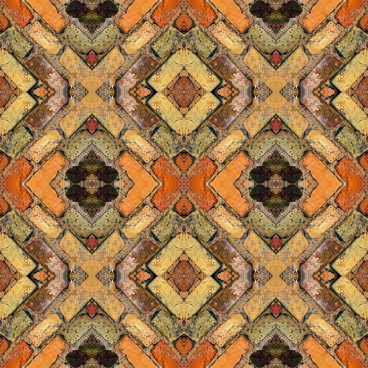 Pattern, Design, Bricks, Symmetry, Symmetrical, Texture