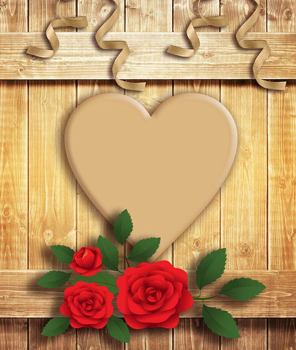 Free photo Design Texture Wood Heart Brown Color Background