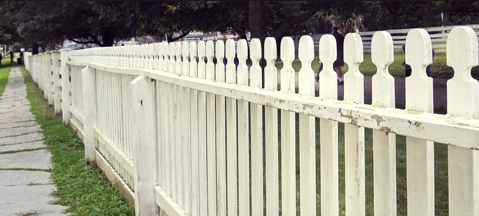 Fence White Wood Wooden Design Timber Picket
