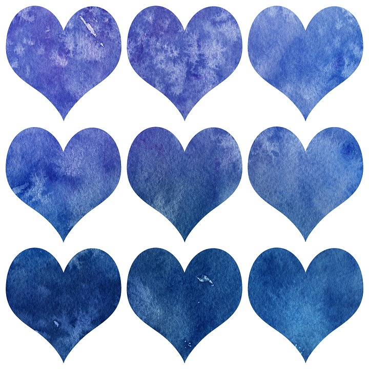 Valentin, Heart, Watercolor, Design, Images, Pattern