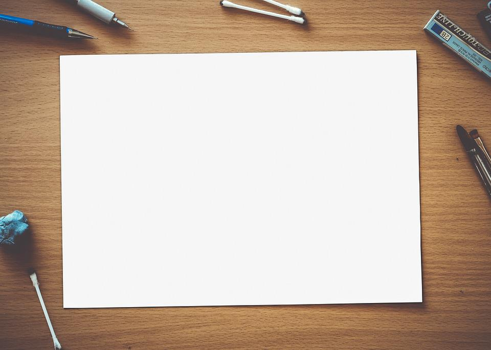 Paper Blank White Empty Page Space Design