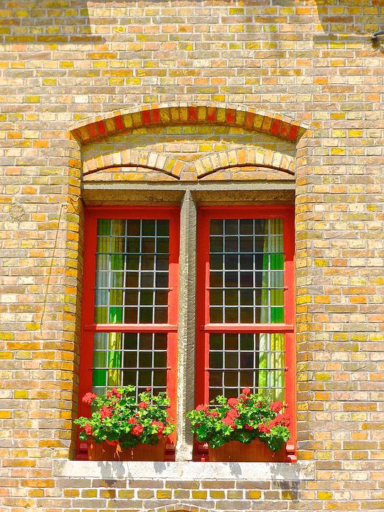 Window, Stained Glass, Red, Bright, Design, Colorful