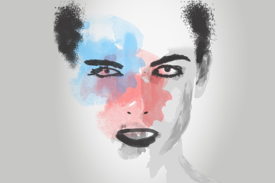 Woman, Head, Art, Design