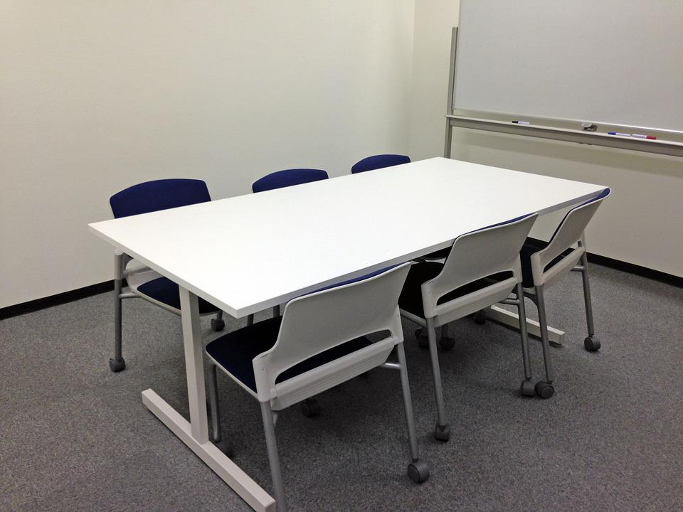 Conference Room, Meeting Space, Chair, Desk, Office