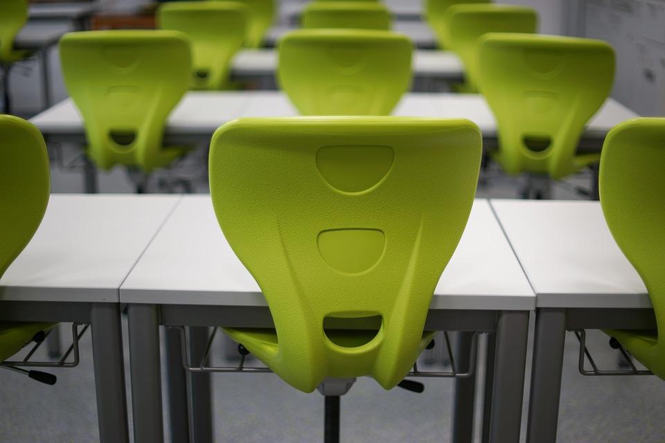 Classroom, School, Desk, Chair, Class, Education