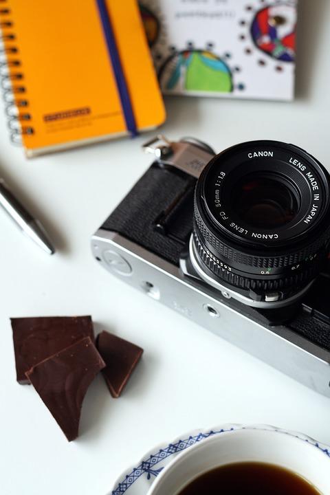 Camera, Canon, Photography, Office Space, Desk, Lens