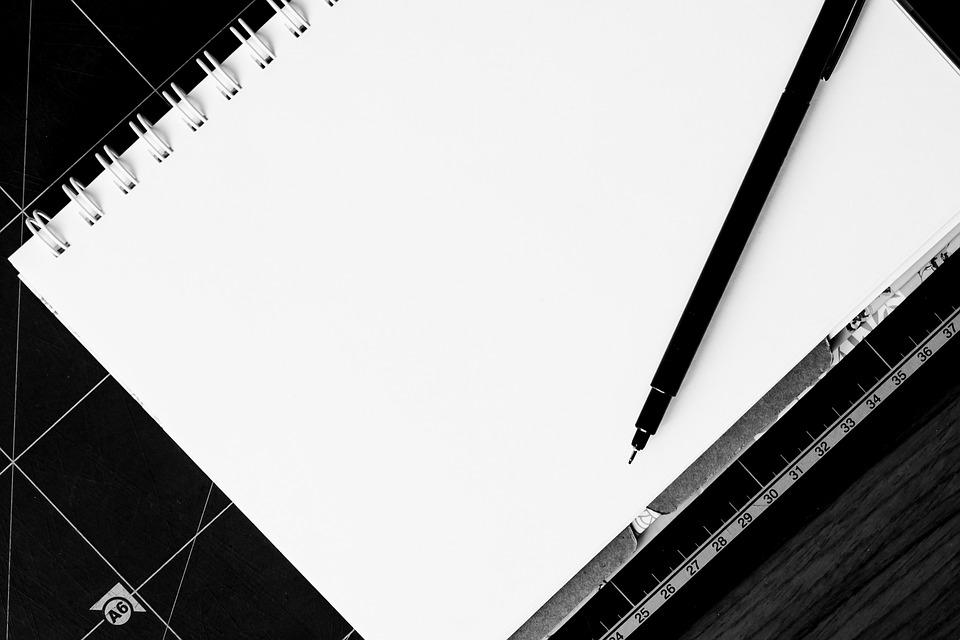 Superb Free Photo Desk Pen Blank Note White Table Paper Notebook Download Free Architecture Designs Terchretrmadebymaigaardcom