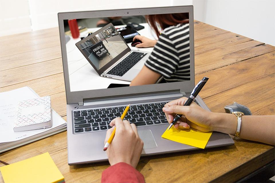 Laptop, Computer, Office, Desk, Technology