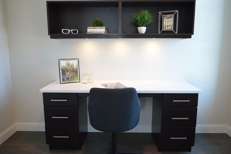 Home Office, Chair, Desk, Workspace, Workstation