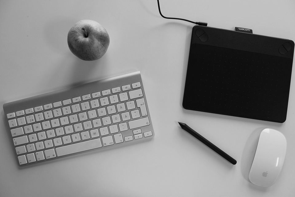 Desktop, Mac, Apple, Keyboard, Pen, Graphic