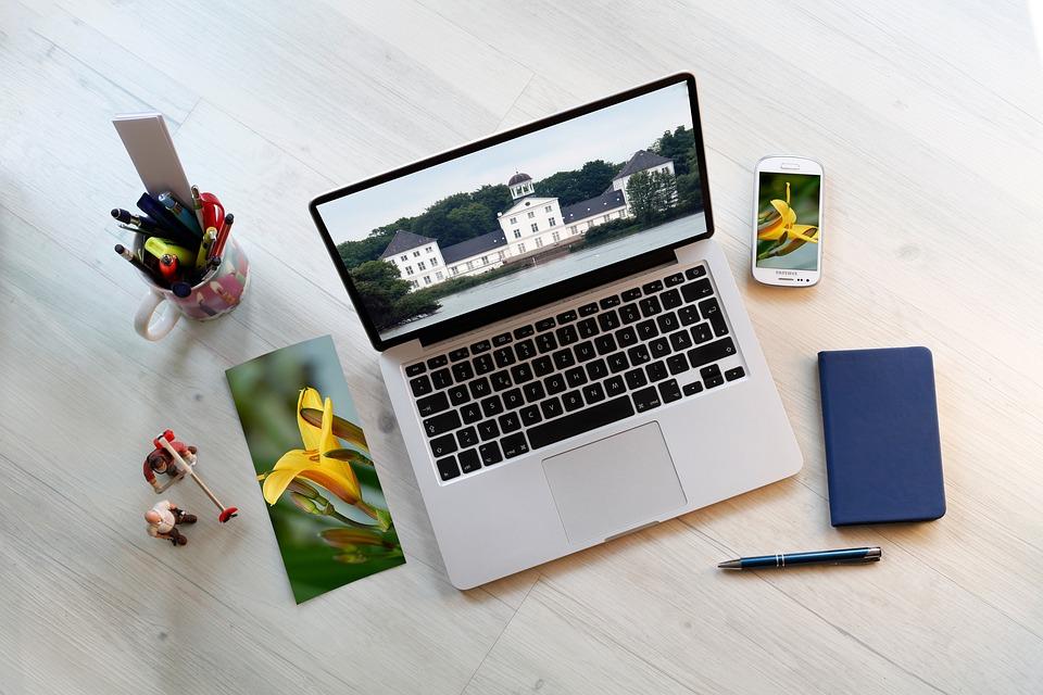 free photo desktop smartphone workplace communication macbook max